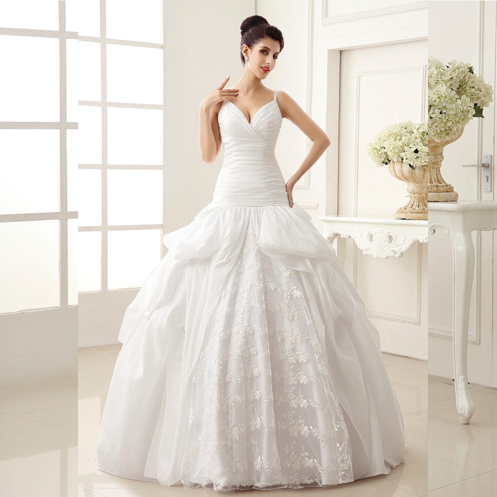 Online Get Cheap Ball Gown Wedding Dresses Aliexpress Com