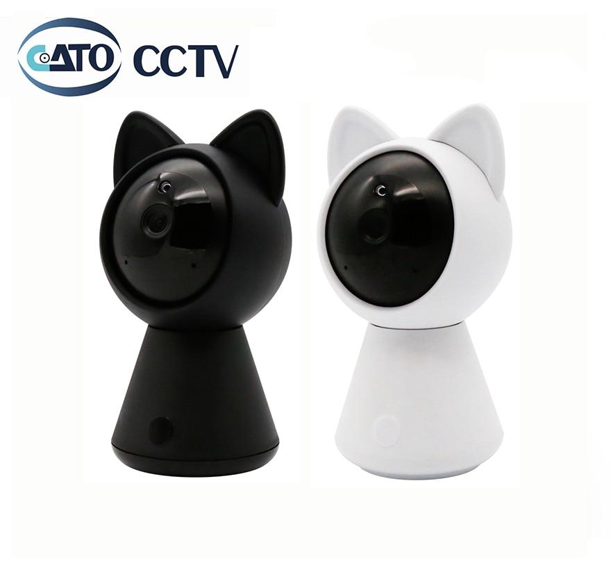 DatoCCTV 1080P WiFi Mini Smart Cute IP Camera 2MP Wireless Two-Way Audio P2P Remote View Night Vision Kitty Cat Baby Monitor