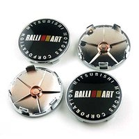 4pcs 65mm Car Styling Accessories Emblem Badge Wheel Hub Caps Centre Cover Motorsport RALLIART For MITSUBISHI