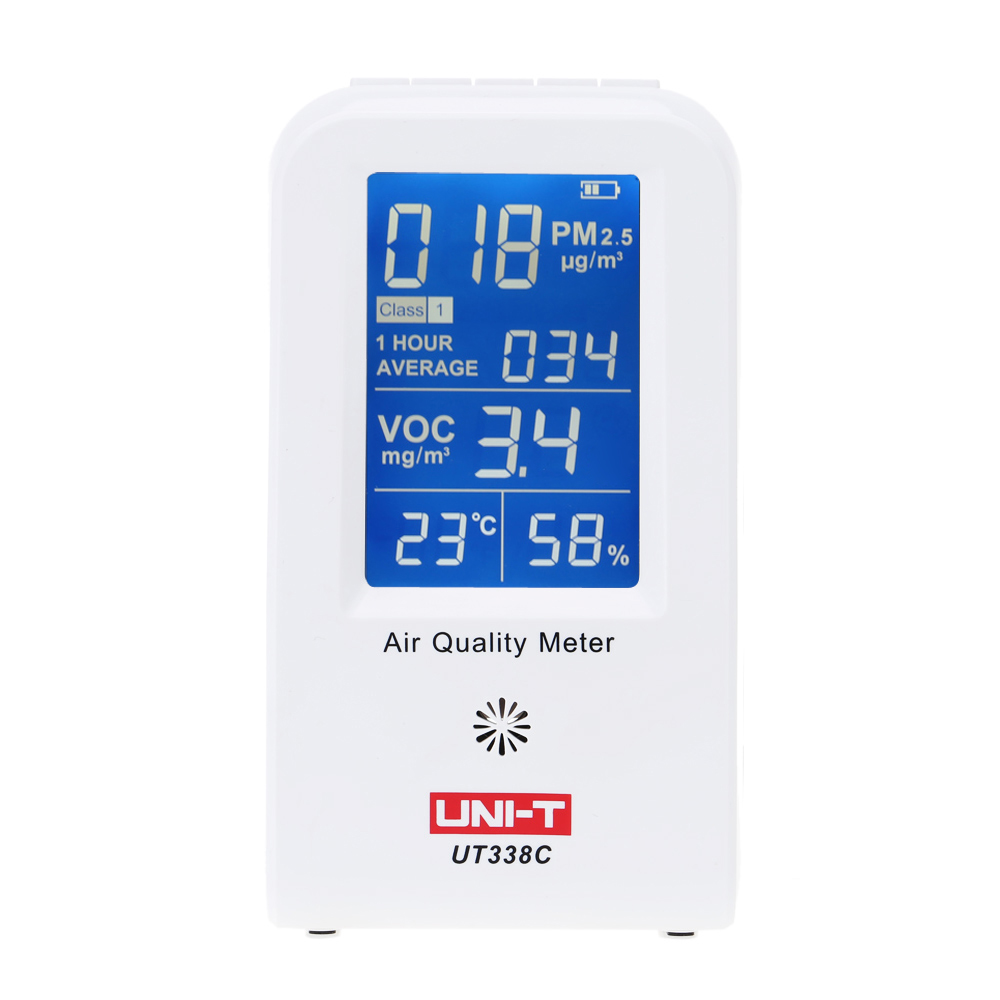 UNI-T UT-338C Precision Gas Analyzers Fine Air Quality Detector Indoor VOC PM2.5 Detector LCD Air Monitor Thermometer Hygrometer gas analyzers hand held gas detector formaldehyde air quality monitor