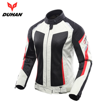 DUHAN Motorcycle Jacket Breathable Mesh Riding Street Touring Women Moto Jacket Clothing Protective Gear Motorbike Jacket Armor duhan summer motorcycle jacket men breathable mesh riding moto jacket motorcycle body armor protector moto cross clothing