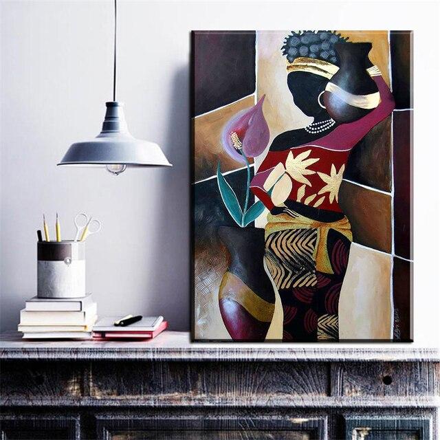 ZZ695 Moderne Dekorative Leinwand Kunst Abstrakte Afrikanische Frauen  Leinwand öl Kunst Malerei Wandbilder Für Wohnzimmer Schlafzimmer