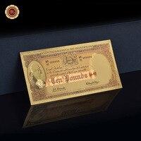 24K Australia 10 Pound 1960-65 Color Gold Banknote