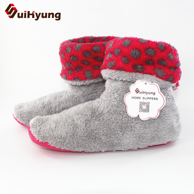 Suihyung Women Winter Warm Indoor Shoes Home Slippers Bedroom Mute Non-slip Floor Slippers Cotton Shoes Botas Female House Shoes suihyung new winter warm women home slippers plush indoor shoes funny bear pattern cotton padded shoes house bedroom floor shoes