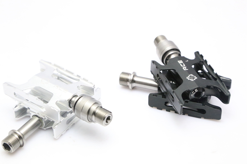 Ultra lightweight CNC Pedals with Full Titanium Axles for BROMPTON