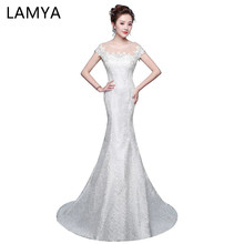 Elegant Trumpet Mermaid Wedding Dresses Plus Size Applique O Neck Mermaid Bridal Gown Vestido De Festa turkey bridal dresses(China)