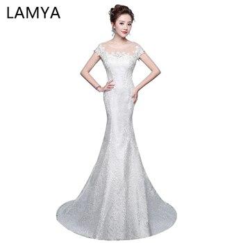 Elegant Trumpet Mermaid Wedding Dresses Plus Size Applique O Neck Mermaid Bridal Gown Vestido De Festa turkey bridal dresses