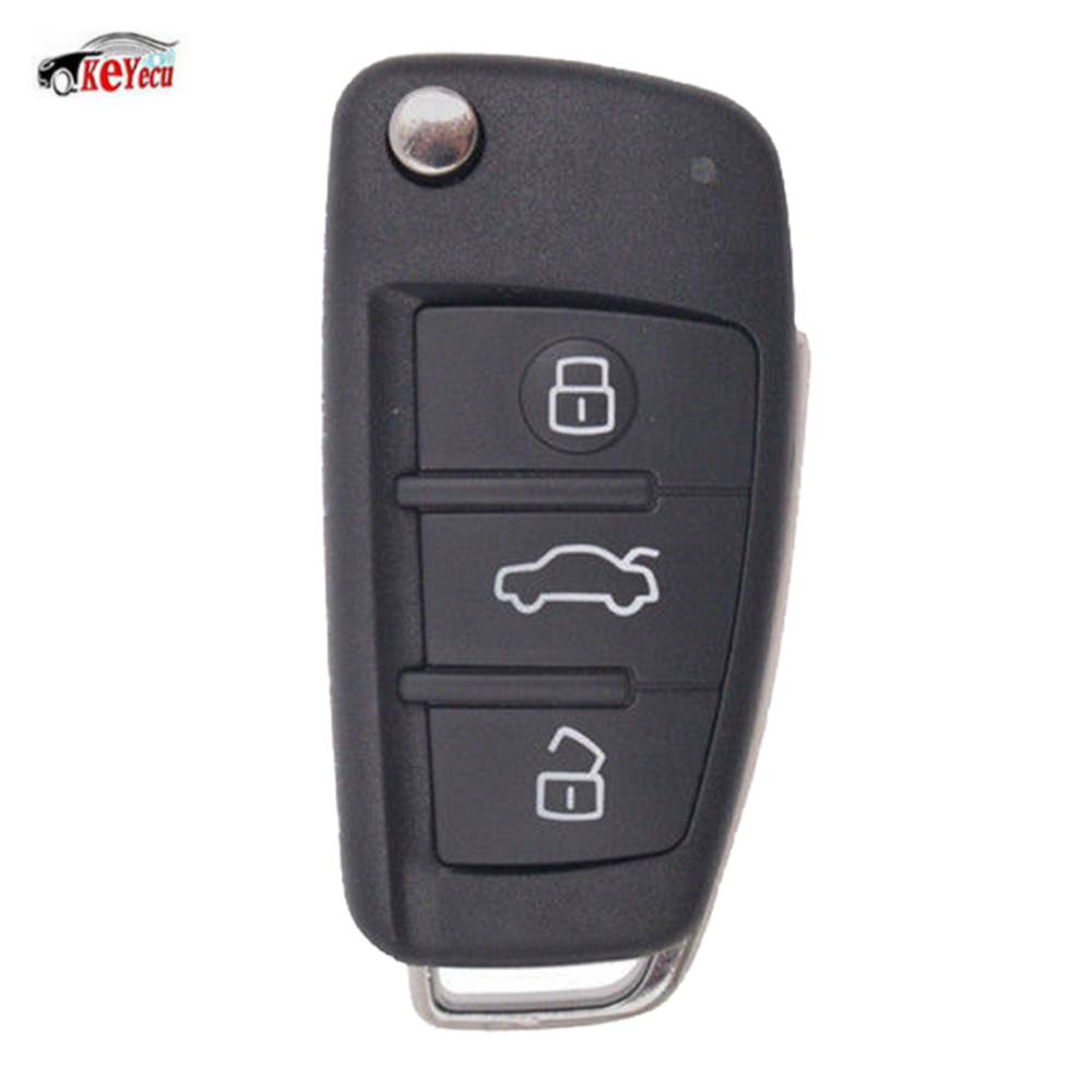 KEYECU XHORSE Wireless XN003 Series English Version Universal Remote Key Fob 3 Button for VVDI Key