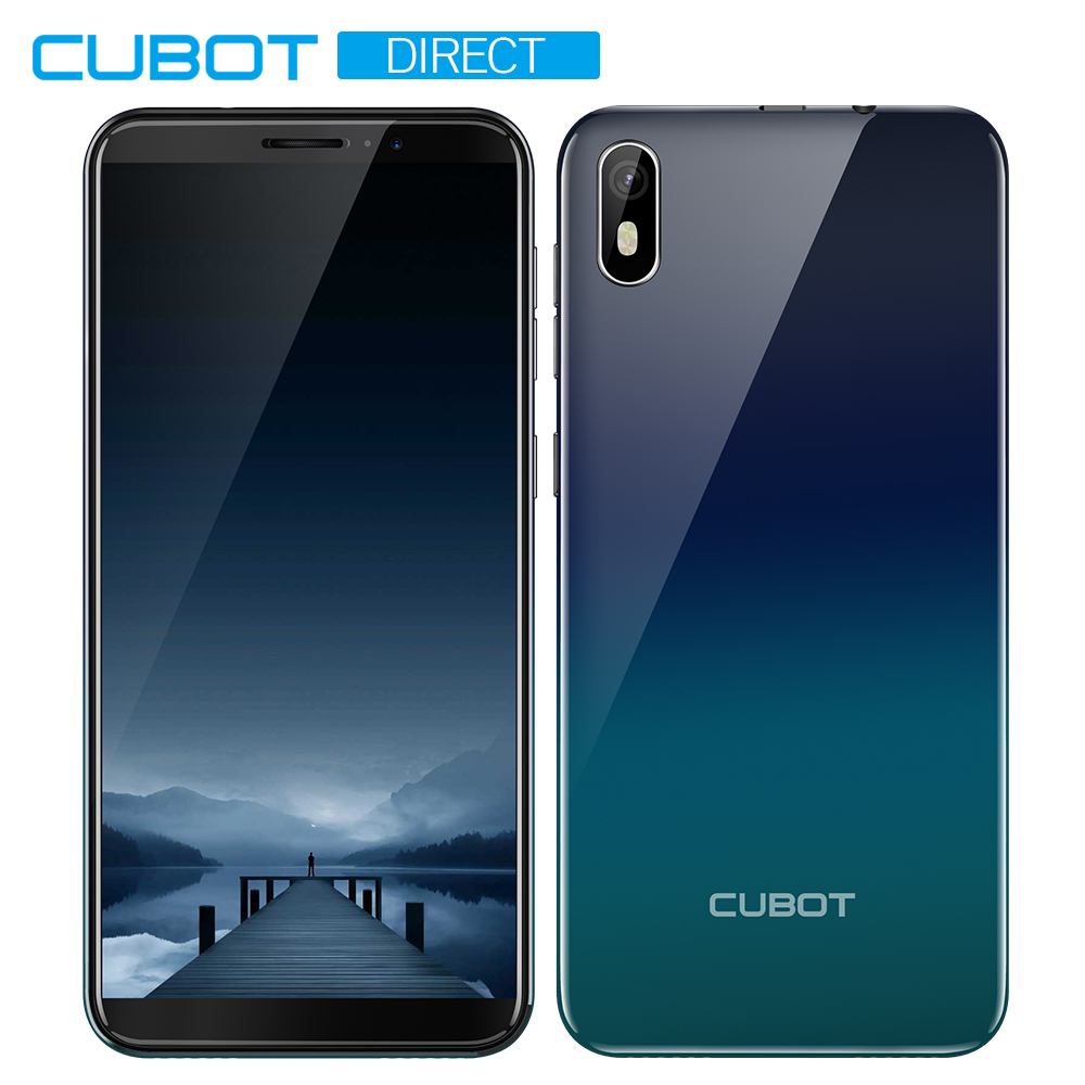 "Cubot J5 Smartphone 5.5"" 18:9 Full Screen MT6580 Quad-Core Android 9.0 Telephone 2GB RAM 16GB ROM Phone Dual SIM Card 2800mAh 3G"