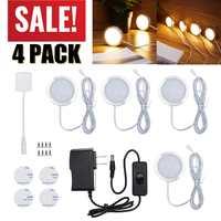 4PCS/Set LED Under Cabinet Light Kitchen lights 12V 2.5W Wardrobe bar lamp with Switch Home wardrobe Lamp Showcase Lamps Decor