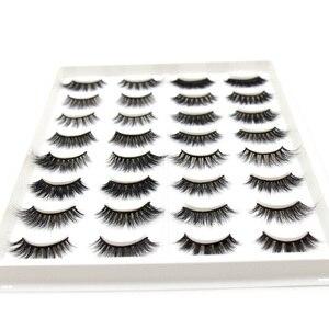 Image 2 - Soqoz 16/7 pares cílios postiços 3d vison cílios feitos à mão macio olho cílios vison real cílios maquiagem grosso cílios falsos