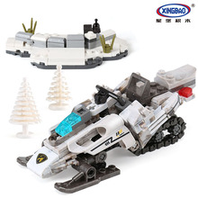 XINGBAO 06009 Genuine  Military Series The Extreme Snowmobiling Set Building Blocks Bricks Toys For Children Gifts 2018 xingbao 01022 3046 pcs genuine the wanfu inn set house model building blocks bricks traditional diy toys for children