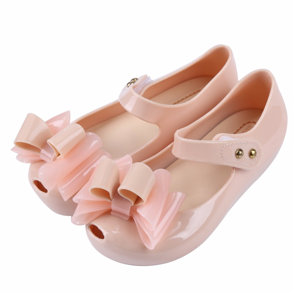 summer New shoes kids shoes Melissa bow-knot Jelly Girls Sandals Girls Sandals Sapato causal shoes 13-18cm Children Shoes Girls