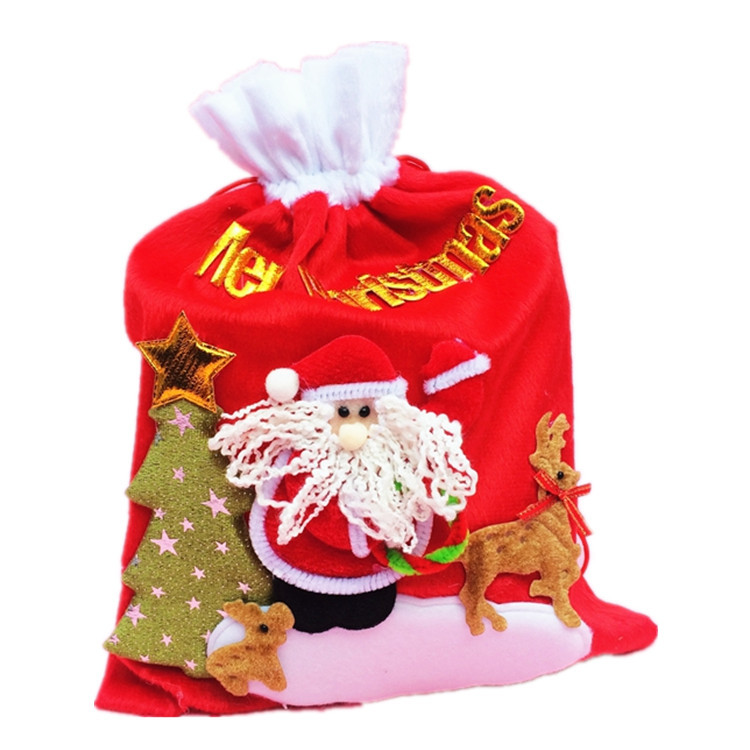 Santa Claus Merry Christmas Gift Bags Big Candy Gift Bag Christmas Tree Elk XMAS Decor Holiday New Year
