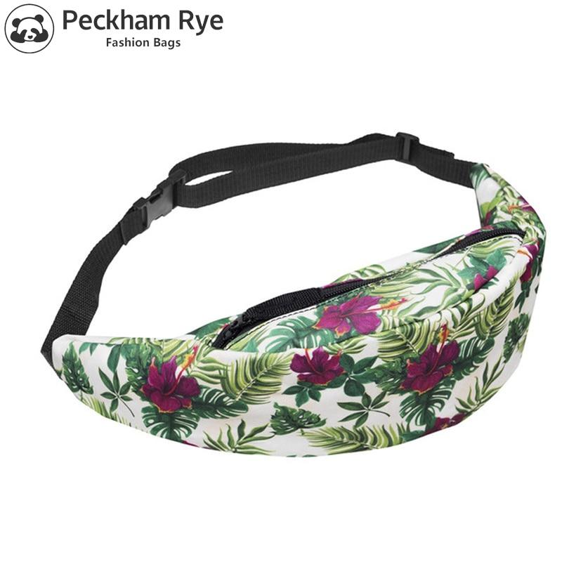 3D Print FANNY PACK BAG Pouch WAIST pack multi-functional pocket Sport run bolso Travel waist bag belt Camera bags WOMNE'S BAG