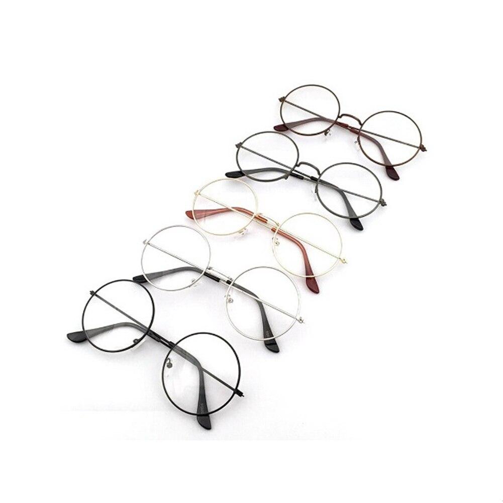 2018 Frauen Männer Retro Runde Metall Rahmen Klare Linse Gläser Nerd Brille Brillen Brillen Rahmen Für Frauen