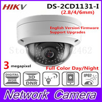 Free Shipping New Arrival HiK 3 0 MP CMOS Network Dome Camera DS 2CD1131 I