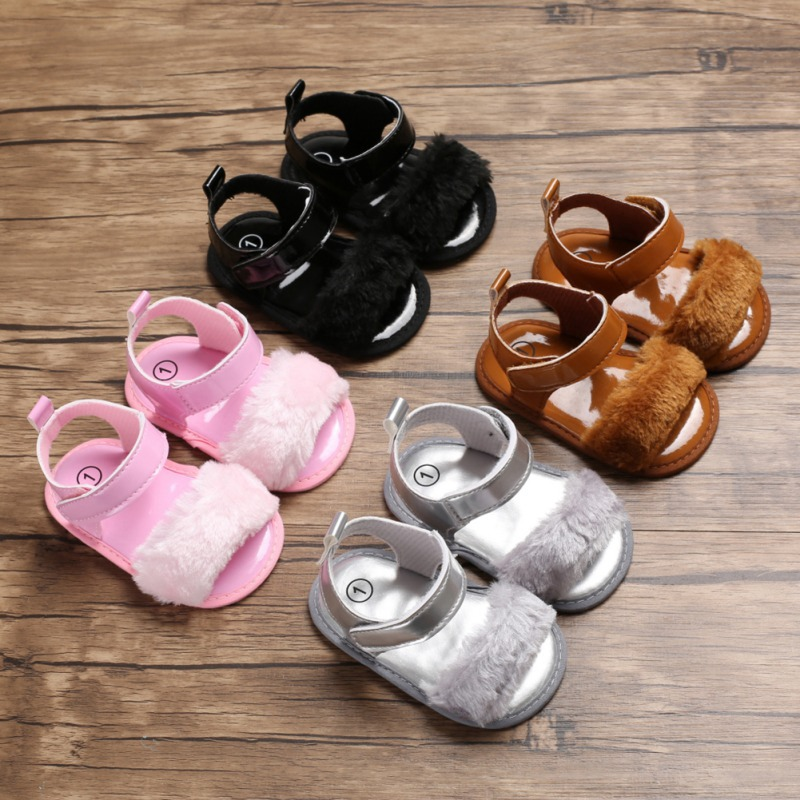 Baby Shoes First Step Anti Slip Beach Sandals For Girls Baby Shoes PU Fashion Summer Soft Non-Slip Toddler Sandals