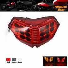 Envío Libre Para DUCATI 1098/S 07-08 1198/S/R 09-11 Integrado Motorcycler Luz Trasera LED de señal de Vuelta Blinker Rojo