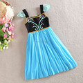 New 2016 Elsa dress Girl Princess Dress Snowflake Queen Elsa Costume,baby & kids summer Cosplay Dresses Kid's Tulle Clothes