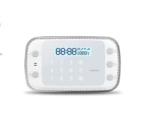 New DIY set Smanos X500 868Mhz GSM/SMS/RFID Touch Alarm System with App Control 16 ports 3g sms modem bulk sms sending 3g modem pool sim5360 new module bulk sms sending device