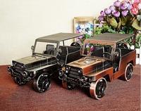 Nova chegada Ferro do vintage modelo de carro modelo Do Veículo de metal artesanato Criativo ornamentos feitas À Mão Artes e Ofícios