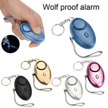 Q Personal Alarm With LED Light 120DB Keychain Alarm Anti Lost Wolf Self Defense Attack