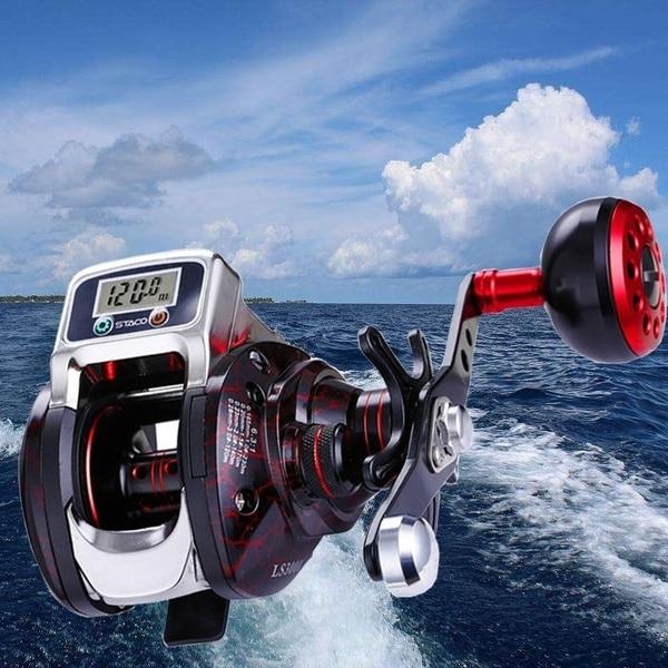 High-tech Magnetic Brake System / Fishing Line Depth Display System Baitcasting Reels 14 + 1BB High Speed Ratio 6.3:1 BrokenHigh-tech Magnetic Brake System / Fishing Line Depth Display System Baitcasting Reels 14 + 1BB High Speed Ratio 6.3:1 Broken