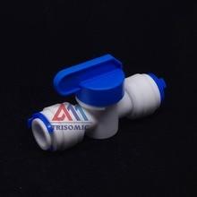 """1/"""" Встроенный трубчатый кран запорный шаровой клапан быстрое соединение аквариума RO фильтр для воды система обратного осмоса"""