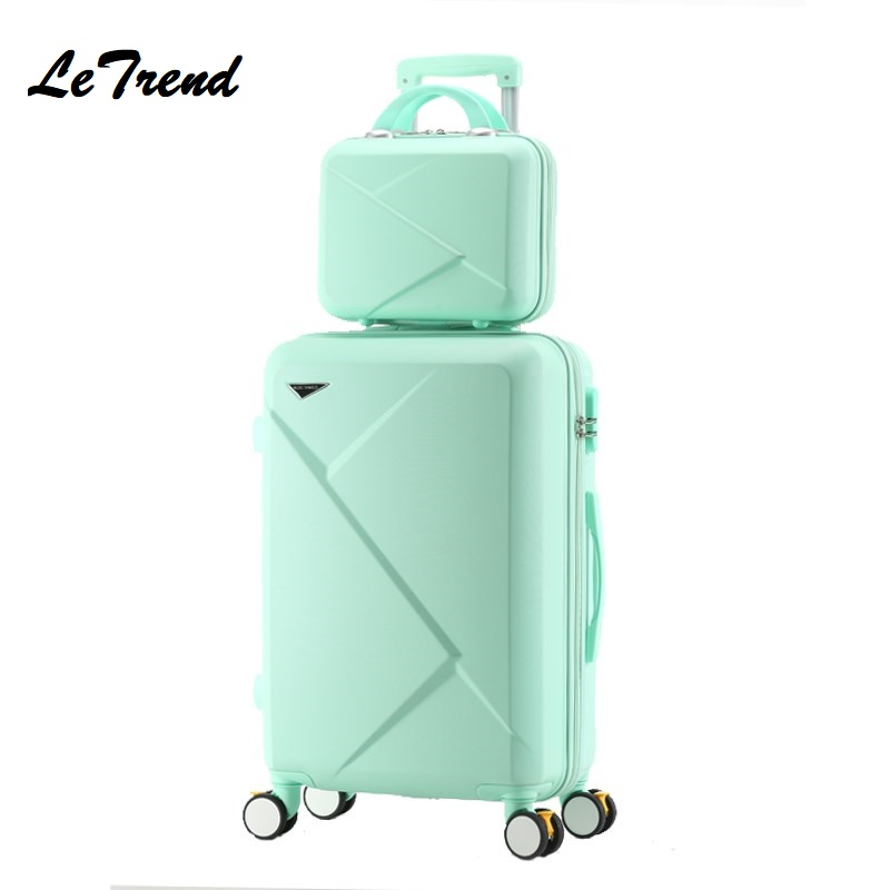 New Fashion 20/22/24 Inches Trolley Boarding Case PC Colourful Travel Waterproof Luggage Set Rolling Suitcase Spinner Box new 2024 inches business trolley case pc students travel luggage mute spinner rolling suitcase combination lock boarding box