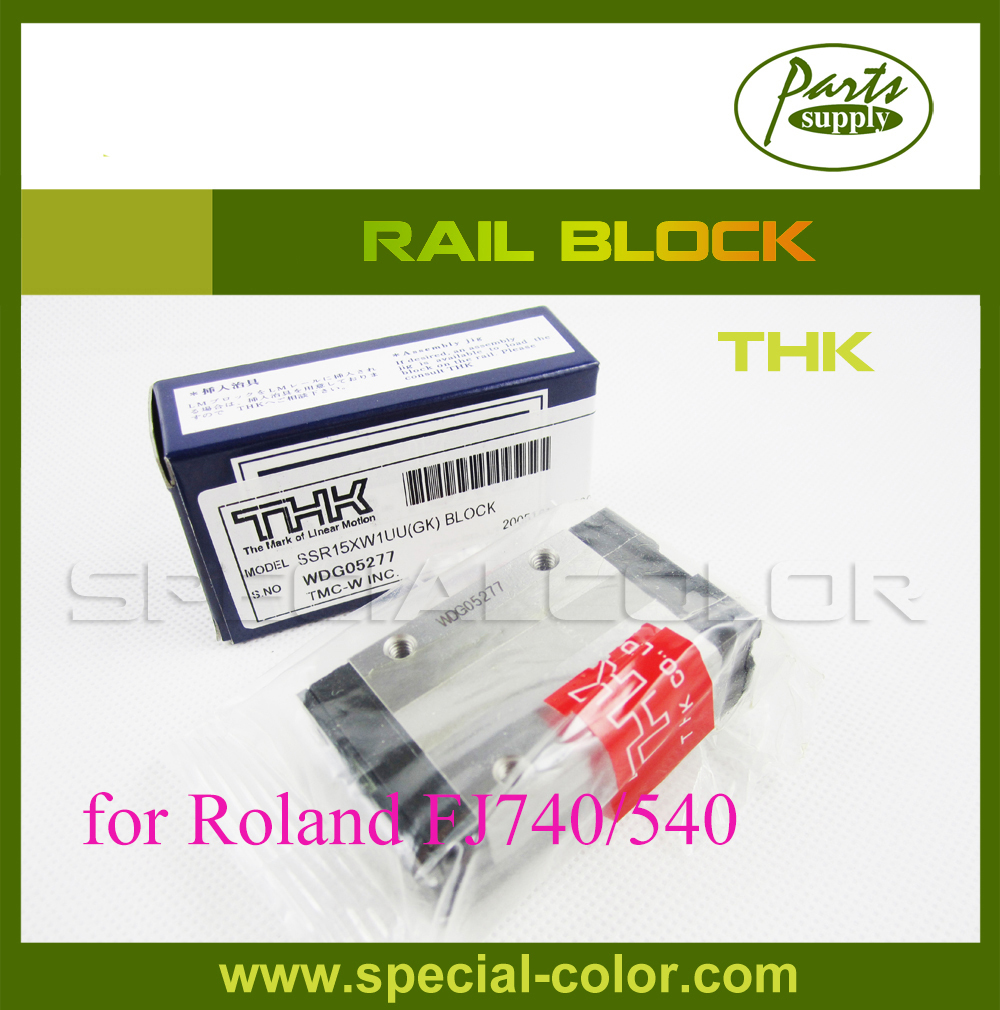 Japan THK Roland Rail block for FJ540 printer 2pcs lot original from japan roland block slider thk bearing for roland fj540 fj740 vj740 ra640 vp540 sp540 sj540 sj740 printer