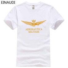 EINAUDI Summer Style 100% Cotton Air force 1 printing T Shirt Men Pure Short  Sleeve 48005cca0