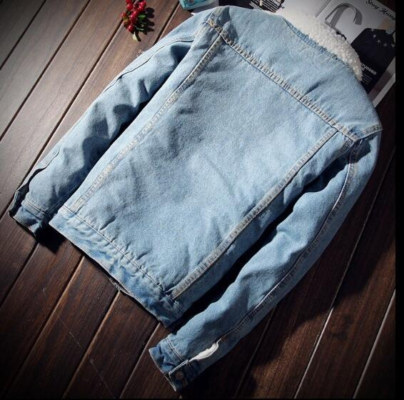 HTB1Z8MHXoLrK1Rjy0Fjq6zYXFXaz Men Jacket and Coat Trendy Warm Fleece Denim Jacket 2018 Winter Fashion Mens Jean Jacket Outwear Male Cowboy