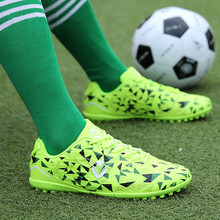 UKT Brand 2018 Professional Football Shoes TF/FG Turf Soles Soccer Shoe Breathable Leather Outdoor Sneakers Men Training Boots