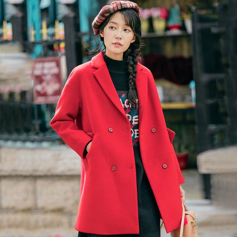 INMAN/длинные однотонные двубортные повседневные зимние куртки с v-образным вырезом для девочек