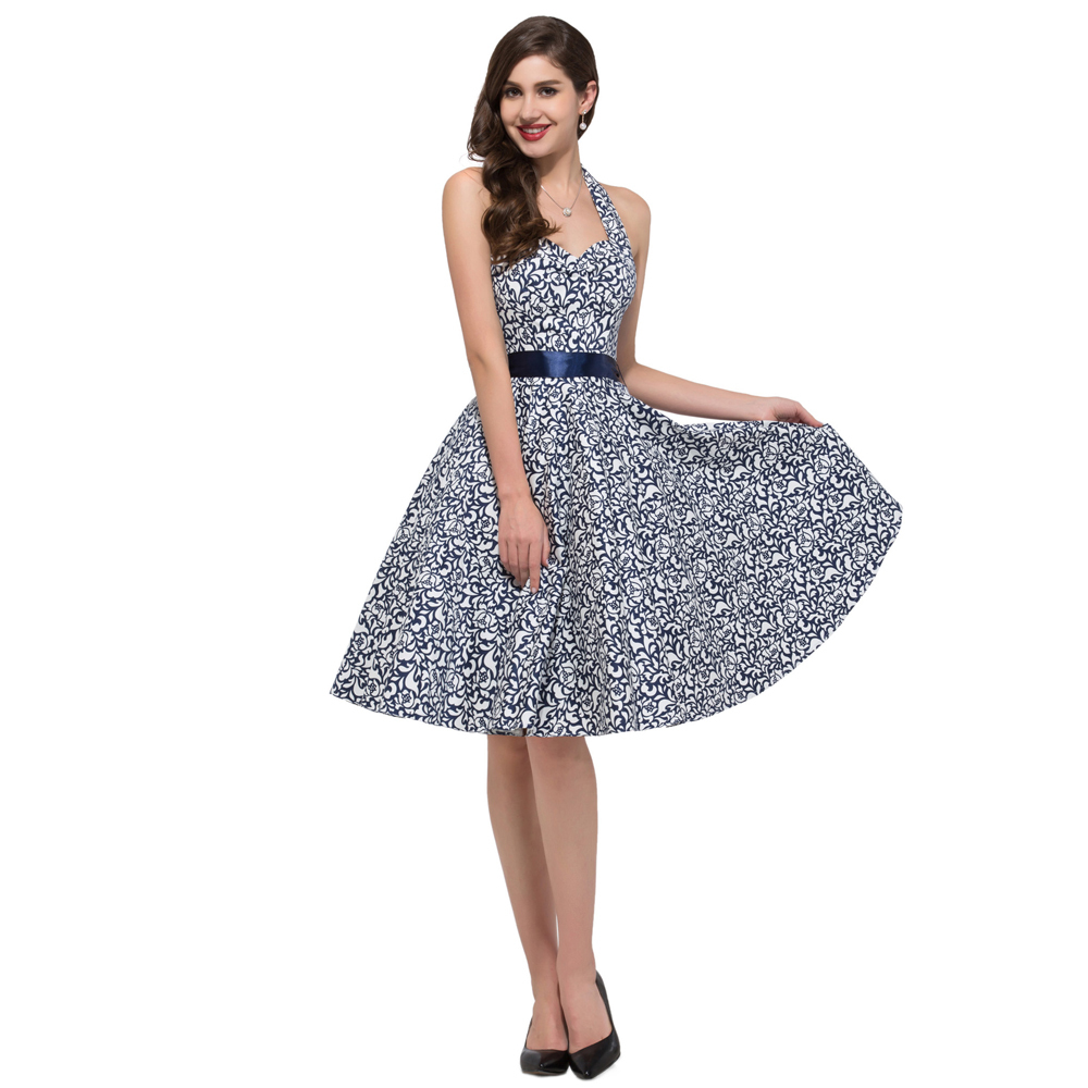 New Summer Housewife Rockabilly Vintage dresses 50s Plus Size Women ...