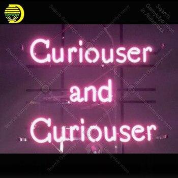 Enseigne lumineuse néon Curiouser ampoules néon enseigne lampe artisanat restaurant accueil affichage LOGO personnalisé néon Letrero néons enseigne lumine