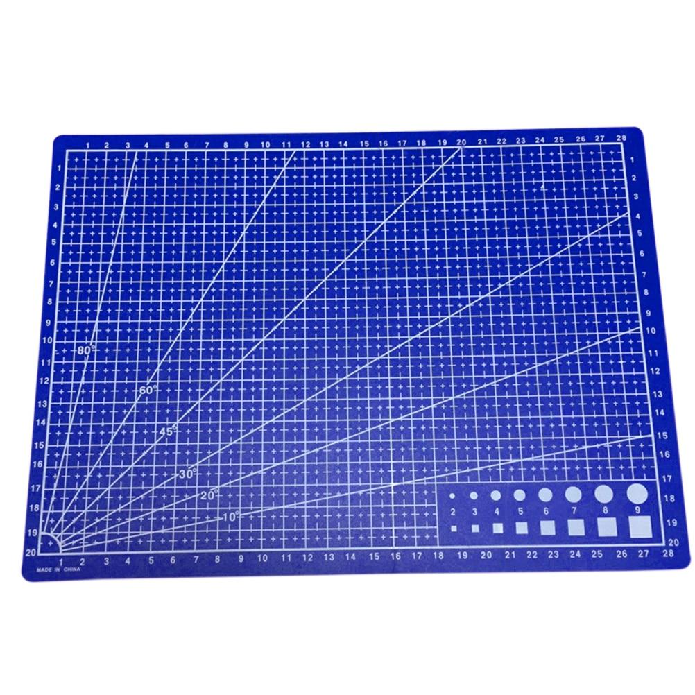 Cutting Mats Peerless 1pc 30*22cm A4 Grid Lines Self Healing Cutting Mat Craft Card Fabric Leather Paper Board Sturdy Construction Office & School Supplies