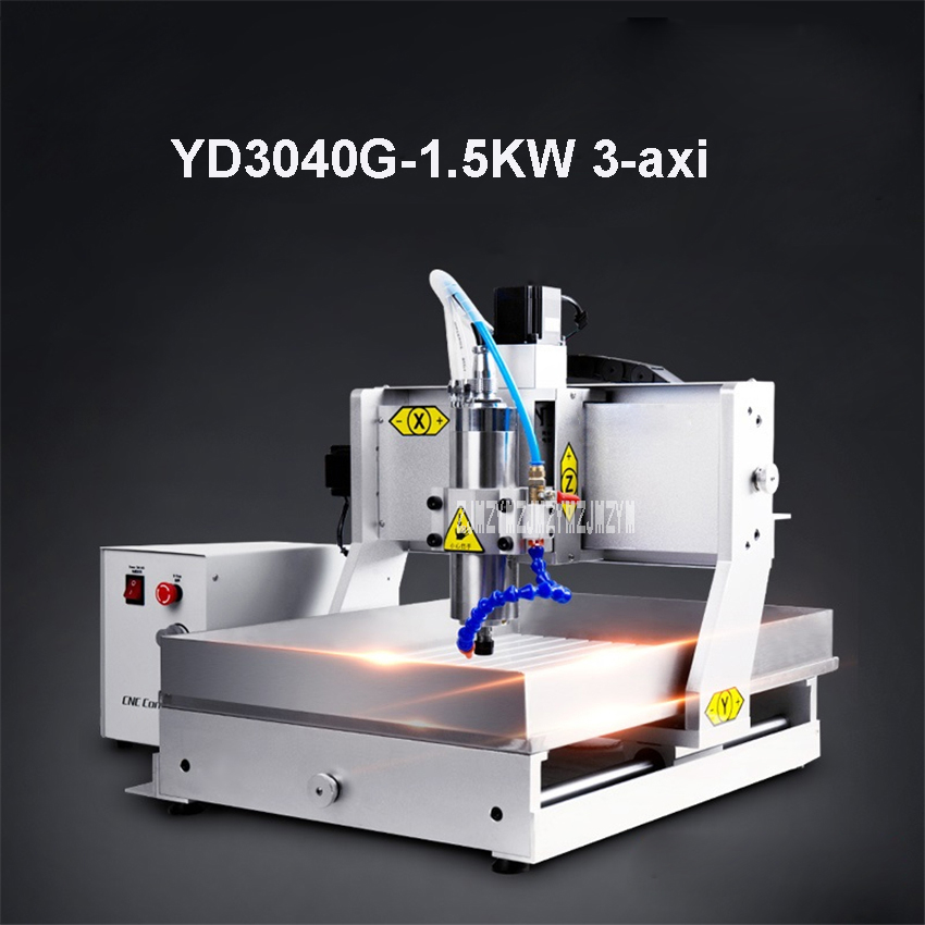 YD3040G 1.5KW Spindle 3-axis Mini CNC Engraving Machine Wood Carving Machine Woodworking Engraving Machine 110V-220V (530*400mm)YD3040G 1.5KW Spindle 3-axis Mini CNC Engraving Machine Wood Carving Machine Woodworking Engraving Machine 110V-220V (530*400mm)
