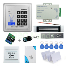 Free shipping RFID Access Control System Kit Set with 180KG Electric Magnetic Lock+Remote control+Door bell+Power+digital Keypad