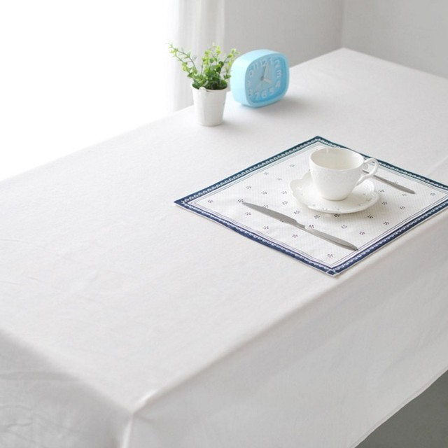 Merveilleux White Cotton Linen Tablecloth Rectangular Home Textile Restaurant Wedding  Party Square Table Cover Decorative Table Cloth