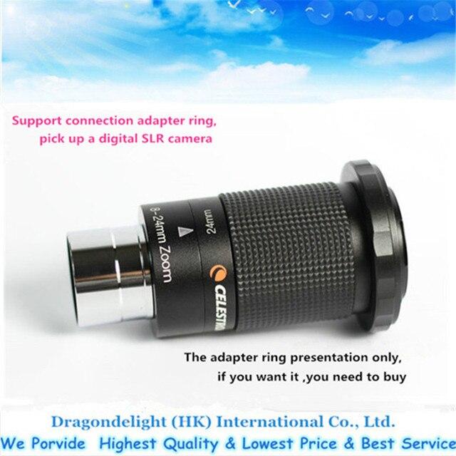 Free Shipping Celestron 8 24mm 125 317mm Zoom Telescope Eyepiece 60