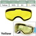 Двухслойные антибликовые линзы лыжные очки ночного видения маска линзы противотуманные лыжные сноуборды зимние спортивные лыжные очки ли...