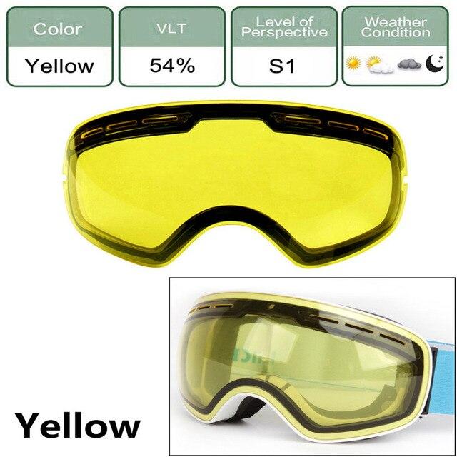 29300ec75efc6 -Dupla camada de Lentes Anti-reflexo Óculos de Visão Noturna Lente Máscara  de Esqui