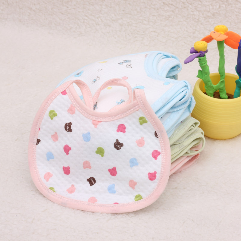 2pieces/Lot Cotton Baby Bib/Infant Saliva Towels/Baby Waterproof Bibs/Newborn Wear Health Bib Infant Baby Cute Feeding Bid B131