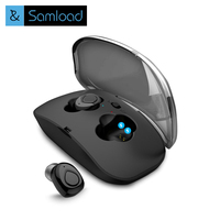 Samload True Wireless Earbuds Hifi Bluetooth Earphone TWS Stereo With Mic For IPhone Samsung Xiaomi Charger