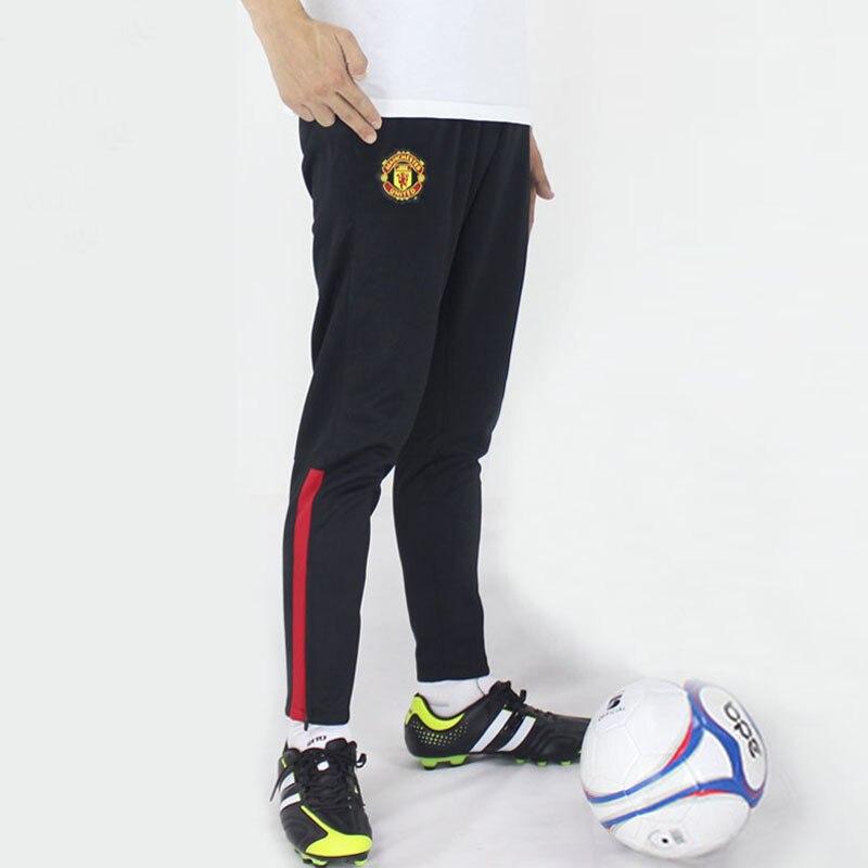 1ea658d05aba8 De calidad superior 100% poliéster pantalones de entrenamiento de fútbol  para hombre Jogging deporte pantalones pantalones de fútbol recoger piernas  ...