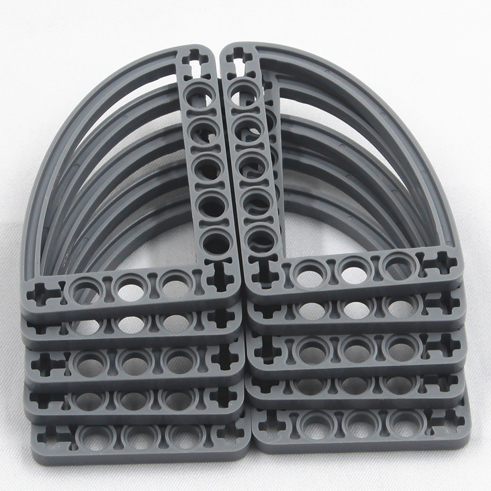 Self-Locking Bricks -- MOC Building Blocks  10PCS HALFBEAM CURVE 5X7 Compatible With Lego