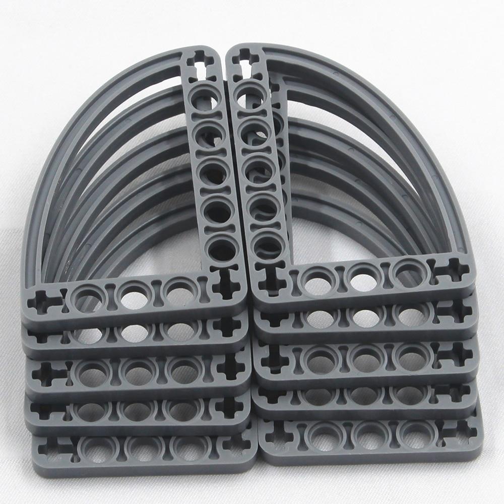 Self-Locking Bricks -- MOC Building Blocks  10PCS HALFBEAM CURVE 5X7 Compatible With Lego