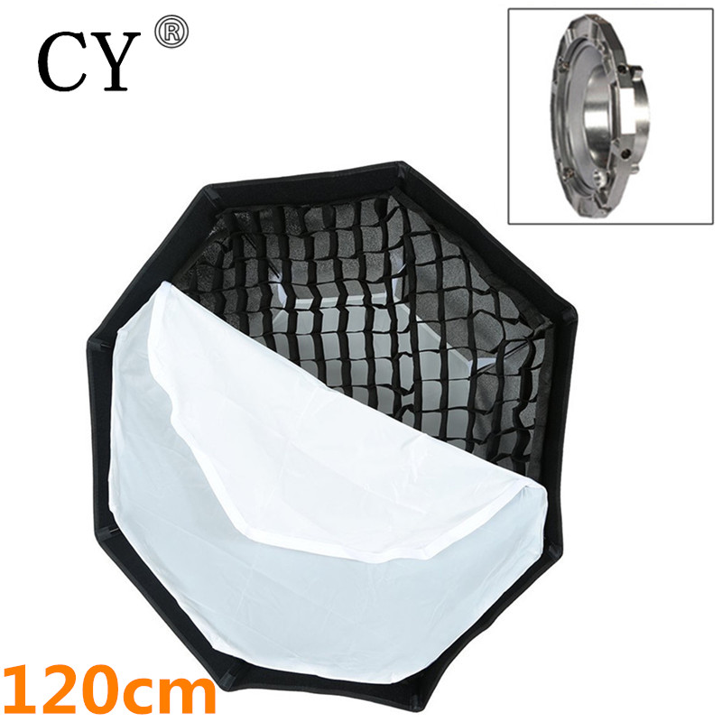 Bowens Mount Octagon Softbox 120cm with Grid for Studio Flash Photo Studio Soft Box Photography Accesorios Fotografia bowens mount octagon softbox 120cm with grid for studio flash photo studio soft box photography accesorios fotografia